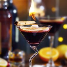 自制感恩香料火焰红酒
