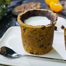 自制巧克力曲奇牛奶杯