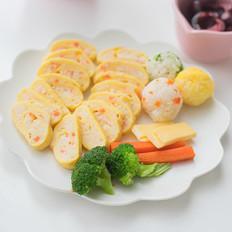 胡萝卜虾泥蛋卷