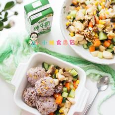 鸡胸肉杂蔬丁套餐