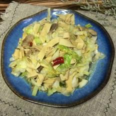大头菜炒豆腐皮