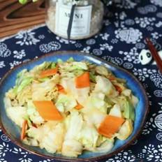 胡萝卜炒头菜