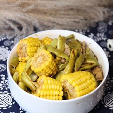 玉米炖豆角