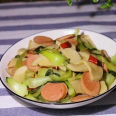 鸡腿菇炒油菜