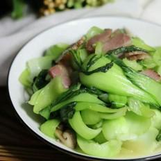 香菇油菜炒腊肉