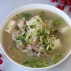羊肉酸菜豆腐锅
