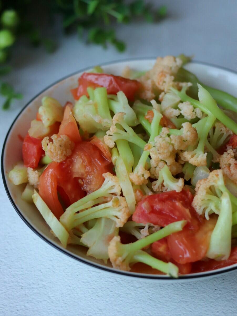番茄炒花菜的做法大全