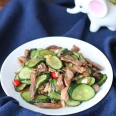 脆黄瓜炒肉
