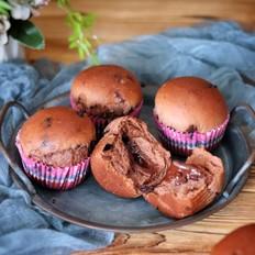 双重巧克力爆浆面包