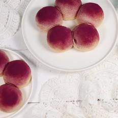 紫薯小花面包