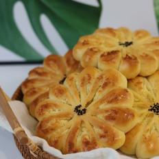 椰蓉花朵面包的做法