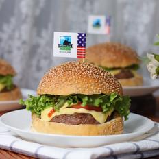 全麦牛肉芝士汉堡的做法