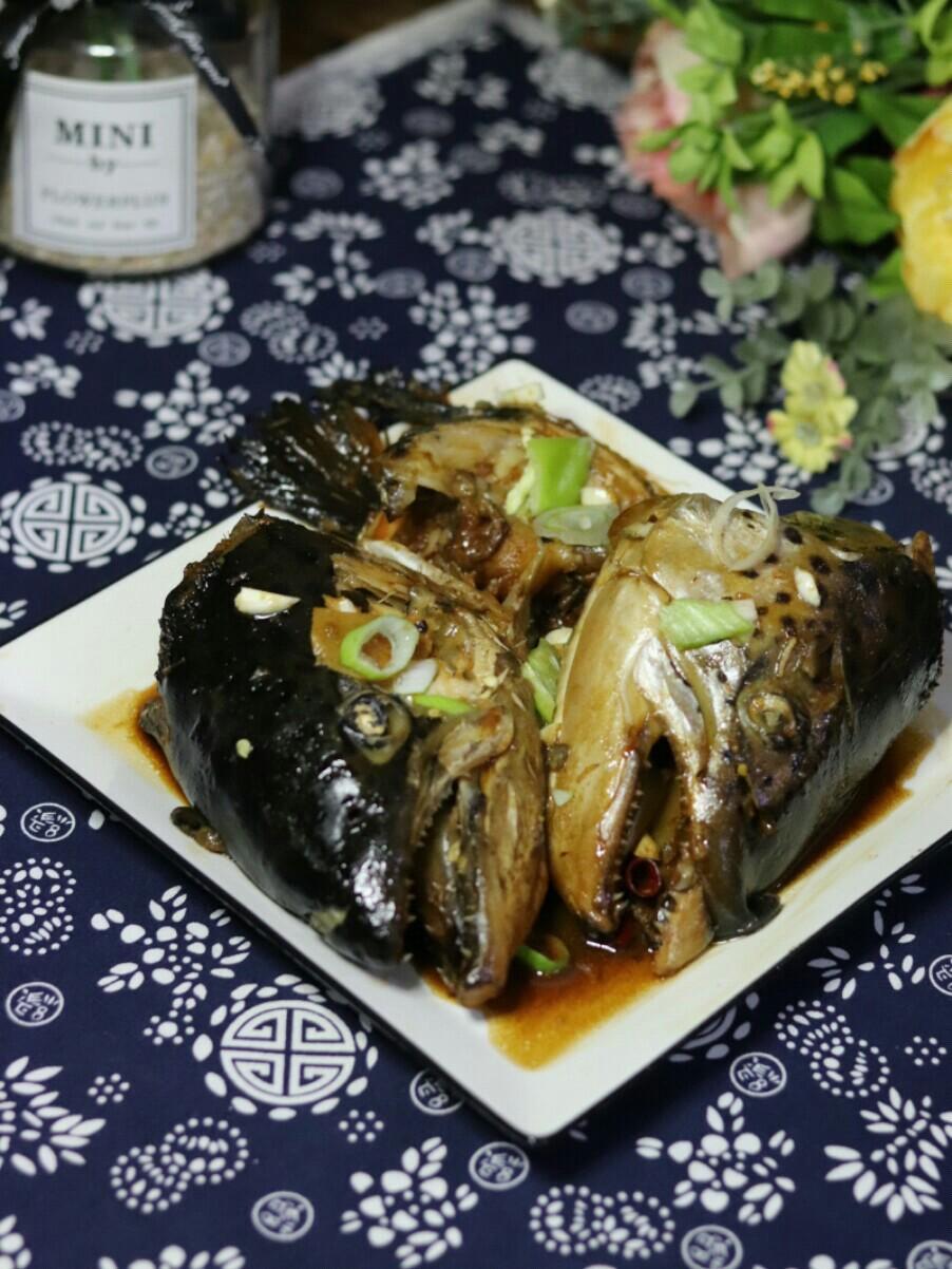 酱三文鱼头的做法