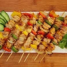 香煎五彩鸡肉串