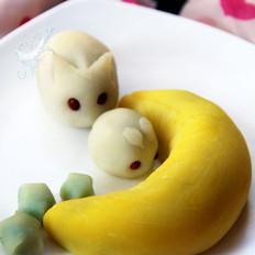 玉兔奔月趣味冰皮月饼