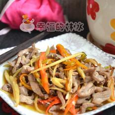 仔姜辣椒炒肉