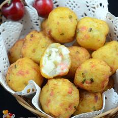 香葱火腿土豆丸子