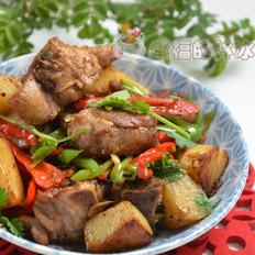 香煎排骨烩土豆
