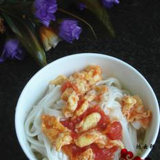 西红柿鸡蛋酱拌面