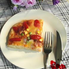 免揉彩蔬披萨