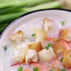 """食美粥-营养粥系列""""油条鲜虾粥""""砂锅炖锅做法易学易做 海鲜粥"""