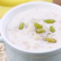 """食美粥-水果粥系列""""香蕉奶香麦片粥""""砂锅炖锅做法易学易做 香蕉牛奶燕麦片粥宝宝辅食 营养早餐"""