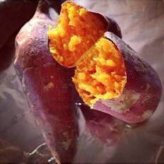 微波炉烤红薯的做法