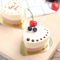 七夕情人节食谱——巧克力酸奶芝士冻糕