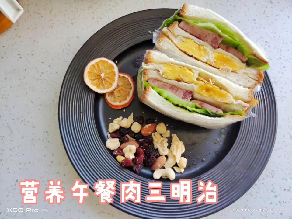 5分钟搞定营养丰富的午餐肉三明治