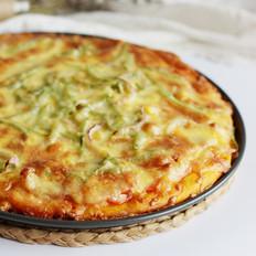 黄金干虾什锦披萨