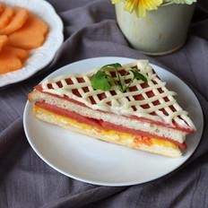 番茄鸡蛋三明治