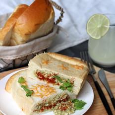 豆腐茄子酱三明治