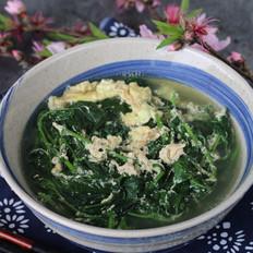白花菜蛋花汤