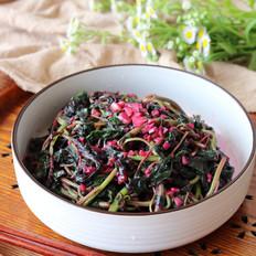 素炒红苋菜