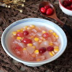 秋梨玉米银耳汤的做法