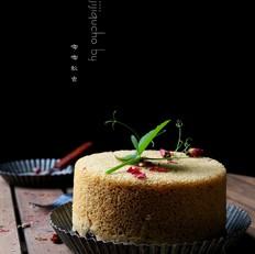 无泡打粉版玫瑰红糖发糕