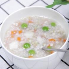 杂蔬藜麦鳕鱼粥