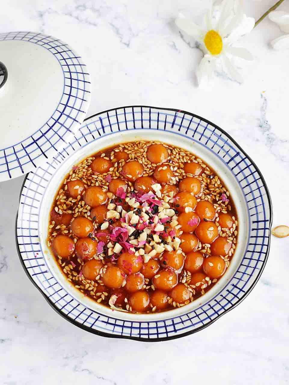 姜汁玫瑰红糖南瓜圆子的做法