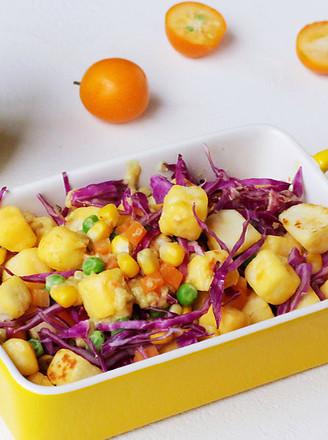 馒头蔬菜什锦沙拉的做法