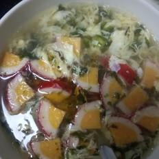 紫菜仿蟹排鸡蛋汤