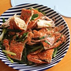 姜葱白胡椒炒蟹