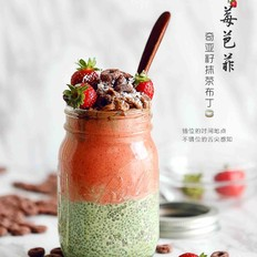 奇亚籽抹茶布丁&草莓芭菲