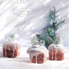 圣诞可可小蛋糕