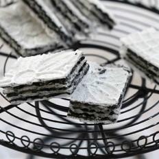 黑芝麻酱威化饼的做法