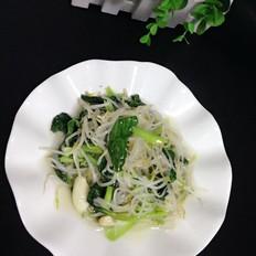 绿豆芽炒小白菜