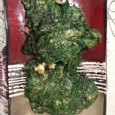 青菜海蛎子饼
