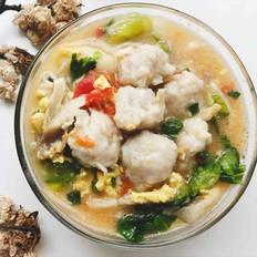 手工鱼丸疙瘩汤