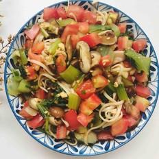 蔬菜凉拌面