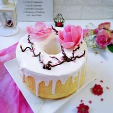 巧克力花淋面蛋糕