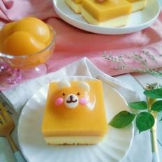 柠芒双拼小熊蛋糕